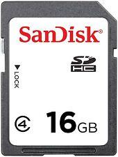 SanDisk 16GB 16 G Class4 SD SDHC Secure Digital Card for Camera C4 Class 4 Bulk