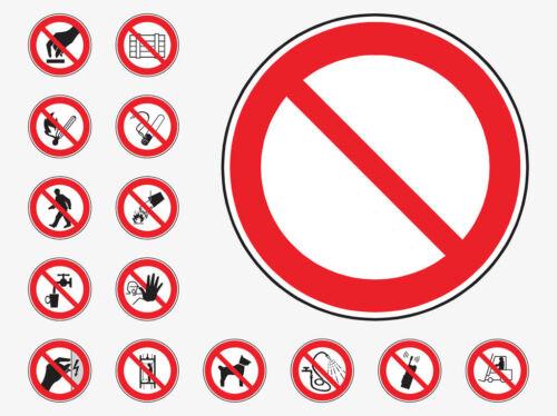 PROHIBITION lugar de trabajo de emergencia y seguridad signos Impermeable coshh HEALTH HACCP