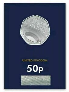 2019-Royal-Mint-Stephen-Hawking-Fifty-pence-50p-BU-Brilliant-Uncirculated-coin