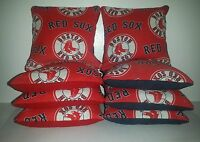 Set Of 8 All Weather Boston Red Sox Baseball Cornhole Bags Free Shipping