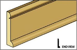 "Dollhouse Miniature Baseboard Trim Molding Classics # 77939-1//4/"" x 24/"""