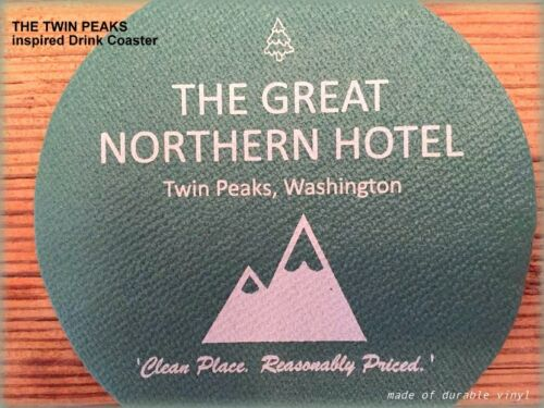 NEW! The Great Northern Hotel Drink Coaster - TWIN PEAKS inspired - Get 4!