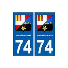 74 Arâches-la-Frasse blason autocollant plaque stickers ville arrondis