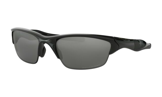 Oakley OO9144-04 Men's Half Jacket 2.0 Sunglasses Black Polarized Iridium Lens