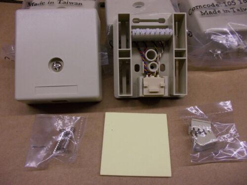 Ivory Lot of 10 103A 246 RJ45 Surface Mount Jacks comcode 105164818
