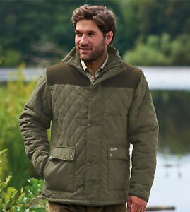 afbcfdf0701f Men Champion Diamond Quilted Jacket Country Estate Corduroy Shoulder ...