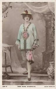 VINTAGE-GLAMOUR-ACTRESS-MISS-MARIE-STUDHOLME-POSTCARD-sent-to-Ballarat-VIC