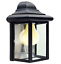 Outdoor-Porch-Light-LED-Bulb-9-034-Black-Fixture-with-Clear-Glass-Panes-458-06 thumbnail 1