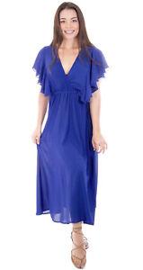 Women-Long-Maxi-Summer-Beach-Hawaiian-Boho-Evening-Sundress-Party-Beach-Dress