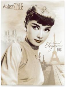 Poster-Kunstdruck-NATURAL-ELEGANCE-PARIS-Tashimoto-Audrey-Hepburn-Bild-60x80