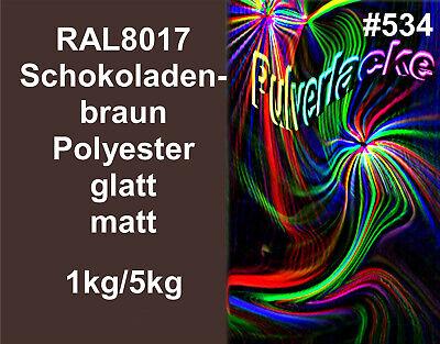 Pulverlack Beschichtungspulver Pulverbeschichtung Ral8017 Schokoladenbraun Matt