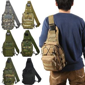 Outdoor Camping Hiking Shoulder Chest Bag Military Tactical Travel Backpack Men