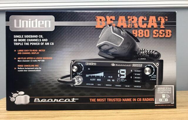 NEW UNIDEN BEARCAT 980 SSB 40 Channel Mobile CB Radio w// Sideband /& 7 Color Disp