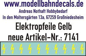 10 Escala 1 Amarillo Elektropfeile 3,9 X 1,5MM - Calcomanía Top 032-7141