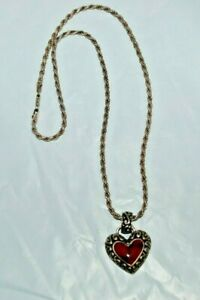 925-Sterling-Silver-Red-Jasper-Heart-Pendant-Necklace