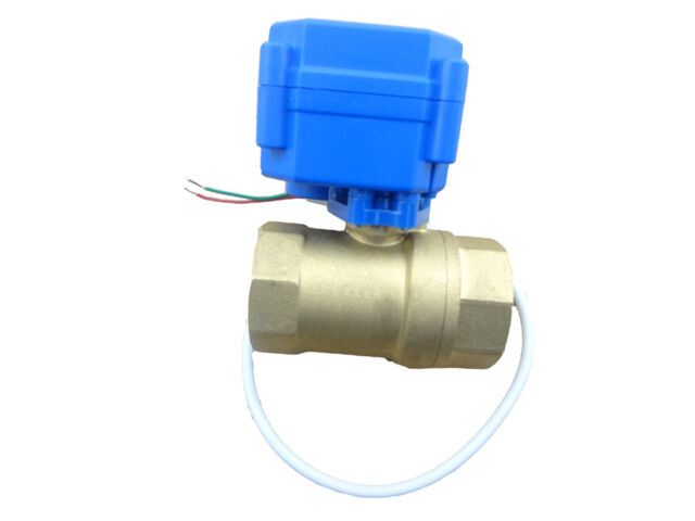 "motorized ball valve DN15, 1/2"" 12V 2 way, electrical valve"