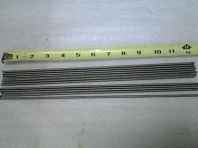 """Lot Of 10 Pieces Grade 5 Titanium Round Rod 3/32"""" Diameter X 12"""" Long 6al4v Para Ser Distribuidos En Todo El Mundo"""
