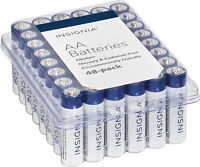48-Pack Insignia AA Batteries (White/Blue)