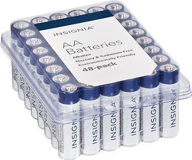 48-Pk Insignia AA Batteries (White/Blue)