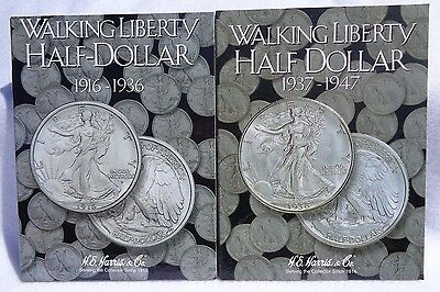 COIN FOLDER WALKING LIBERTY HALF DOLLARS #2 1937-1947 HARRIS #2694 - H.E