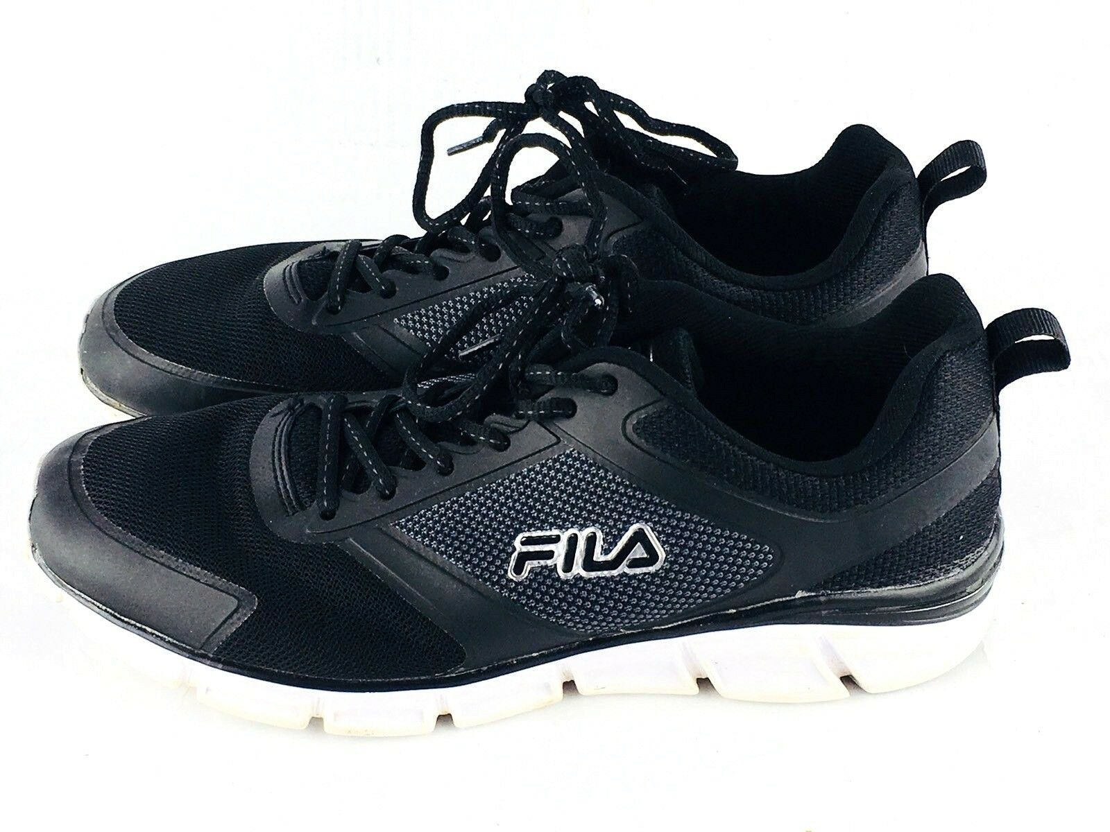 Fila Hombre 10 memoria steelsprint Foam Negro Zapatos Negro Foam Athletic 4d44ba