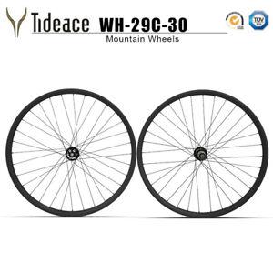 Details about 29er 30mm Width Toray Carbon Fiber Mountain Bicycle Wheels  791 Hubs MTB Rims OEM