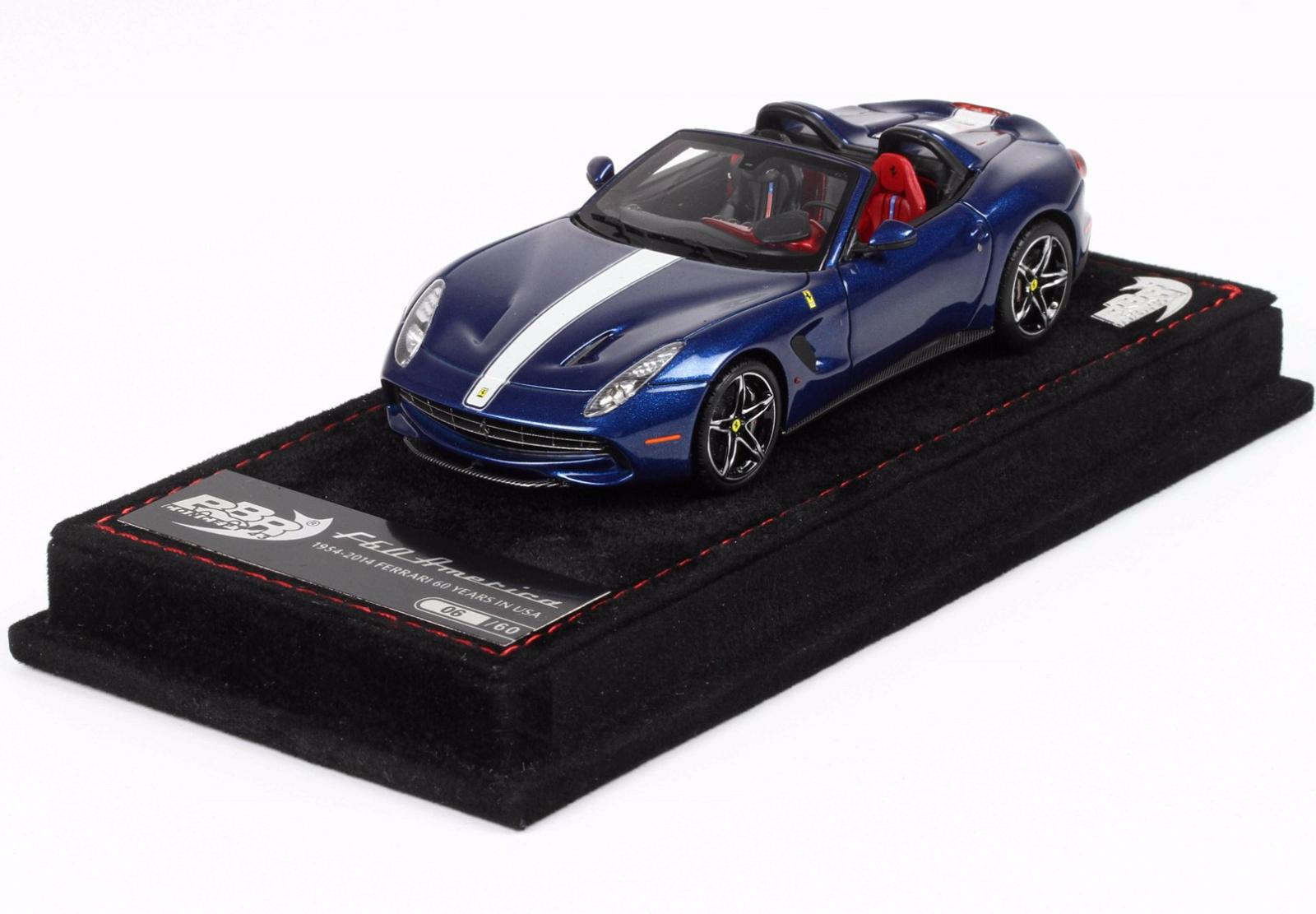 BBR BBRC182E - Ferrari F60 America blu Nart bianca  Liver