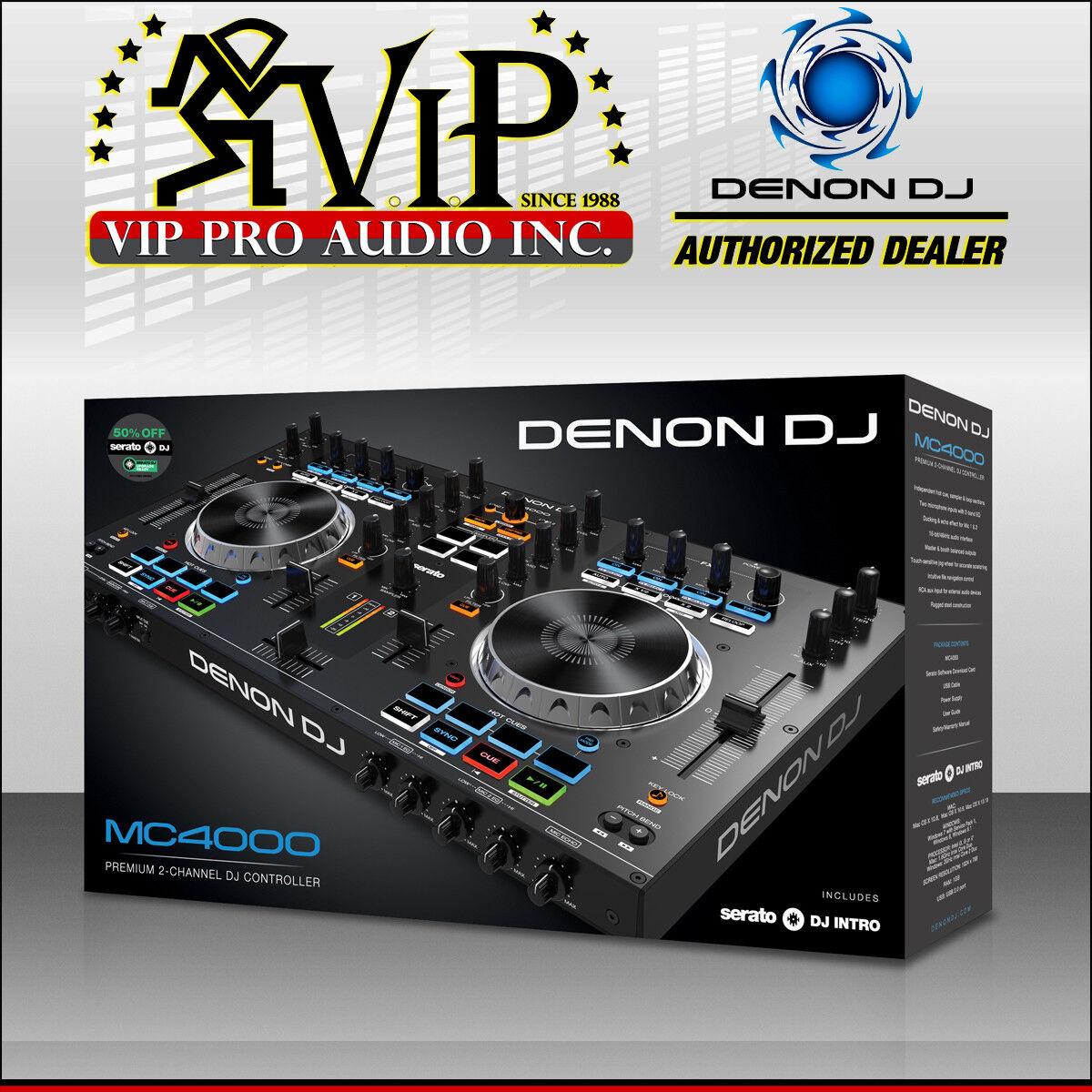 Denon DJ MC4000 Premium 2-Channel Serato MIDI Sample Pad Controller MC4000 NEW.