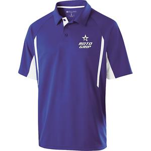 redo Grip Mens Cell Performance Polo Bowling Shirt Dri-Fit Purple