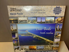 Heritage Puzzle Battleship North Carolina Measures 24 x 18 completed 550 Piece Jigsaw Puzzle Artist Peter Doran