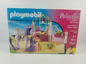 Brand-New-Sealed-Playmobil-Princess-6855-Castle-Stable-74-pieces