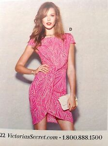Dress Victoria's Knot L Pink front Size Secret qqRtxg7wv