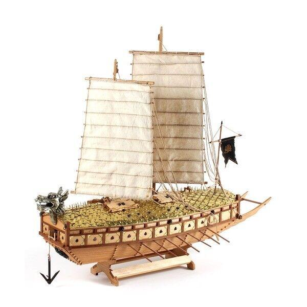 1 65 Scale KOREA Turtle Warship Wooden Model Assembly Kit Yi Sun-Sin