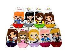 SNSD (Girls Generation) 9 pairs Multi-Colored Cotton Casual Ankle Kpop Socks