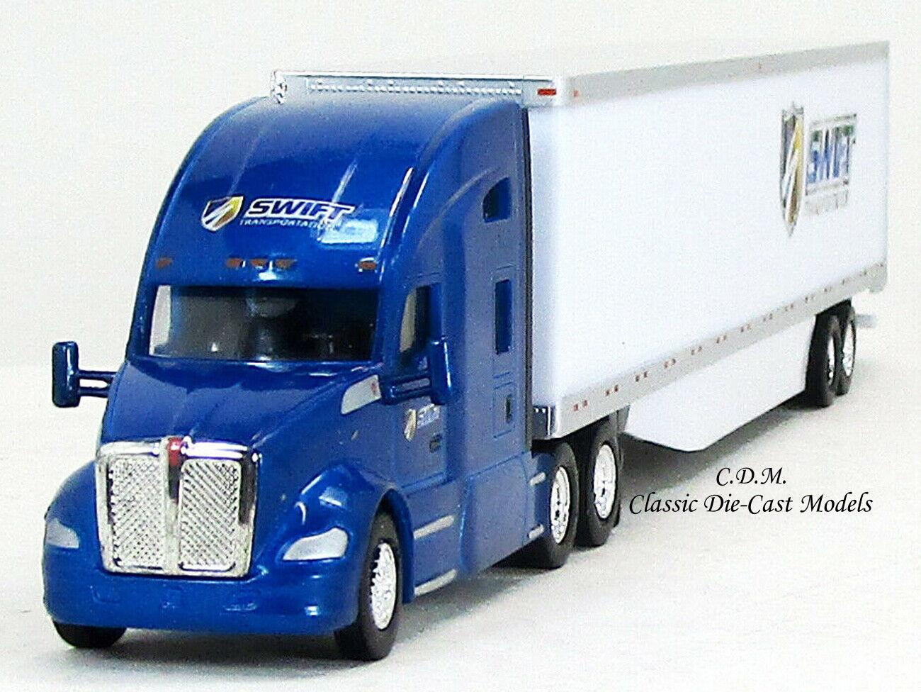 New Look HO 1:87 TNS #120 KW T680 Sleeper w//53/' Dry Van Navajo Freight Lines