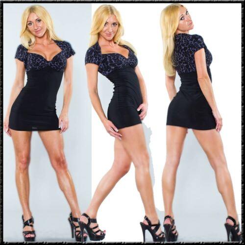 Mini Kleid Bolero Etui Style im Leopard Glamour Look Cocktail Kleid Dress Party