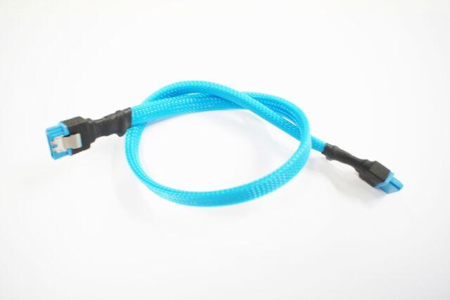 Sleeved SATA 3 Cable, Black, Green, Orange, Red, Purple, Blue