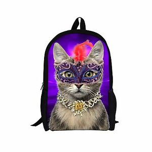 Cute Cat Bookbag Women Girls Backpack Satchel Book School Bag mochilas Teenagers