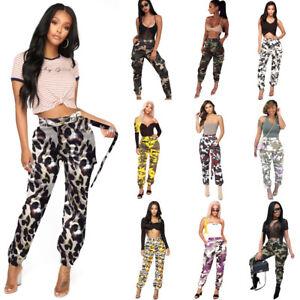 Fashion-Women-039-s-Camouflage-Print-Pencil-Pants-Casual-Clubwear-Pants-Ten-Colors
