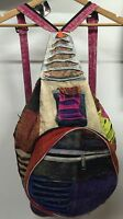 Nepal Flodable ethinic hippie backpack bag zip camping hiking rucksack compact