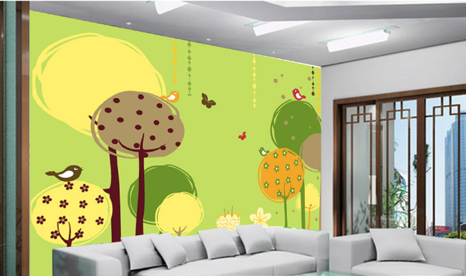 3D Fairy Tale Trees 87 Wall Paper Murals Wall Print Wall Wallpaper Mural AU Kyra