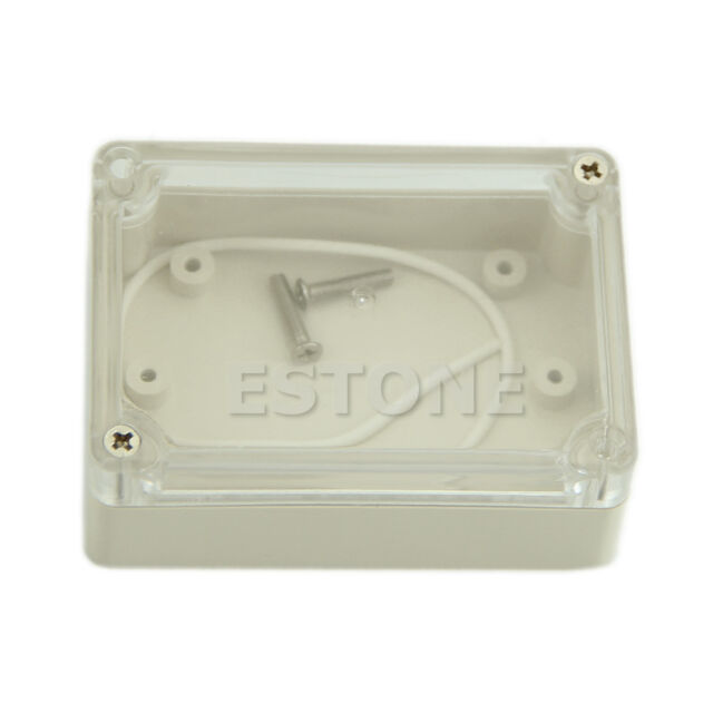 85x58x33mm Waterproof  Electronic Project Box Clear Cover Plastic Enclosure CASE