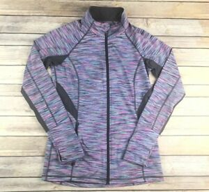 Ideology-Womens-Size-Small-Athletic-Active-Jacket-with-thumb-holes-Pink-Purple