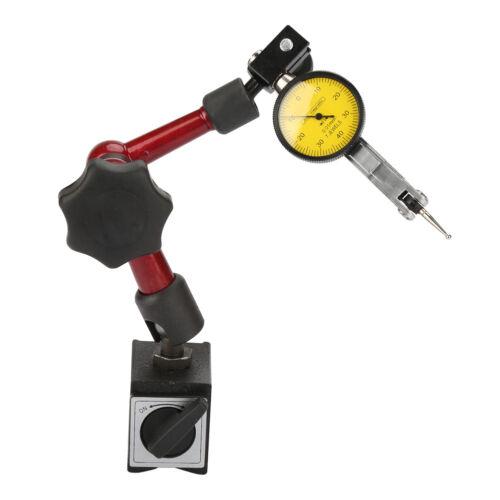 Base Magnetica Snodabile Comparatore Centesimale Risoluzione 0.01mm Tornio