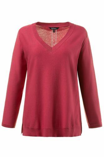 ULLA POPKEN Pullover mit Ajour pink NEU