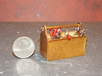 Dollhouse Miniature Tool Box Metal Tools 8 Pc 1:12 Inch Scale F1 Dollys Gallery