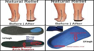 Orthotic Insoles Heel Cup Arch Support, flat feet, pronation, fallen arches