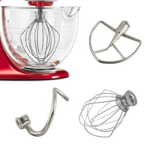 For-KitchenAid-Mixer-Beater-Whip-Mixer-Dough-Hook-W10376294-4KSM7990WH0-New