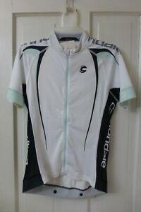 MEDIUM Women's CANNONDALE White Green Black Performance FULL-ZIP Cycling Jersey