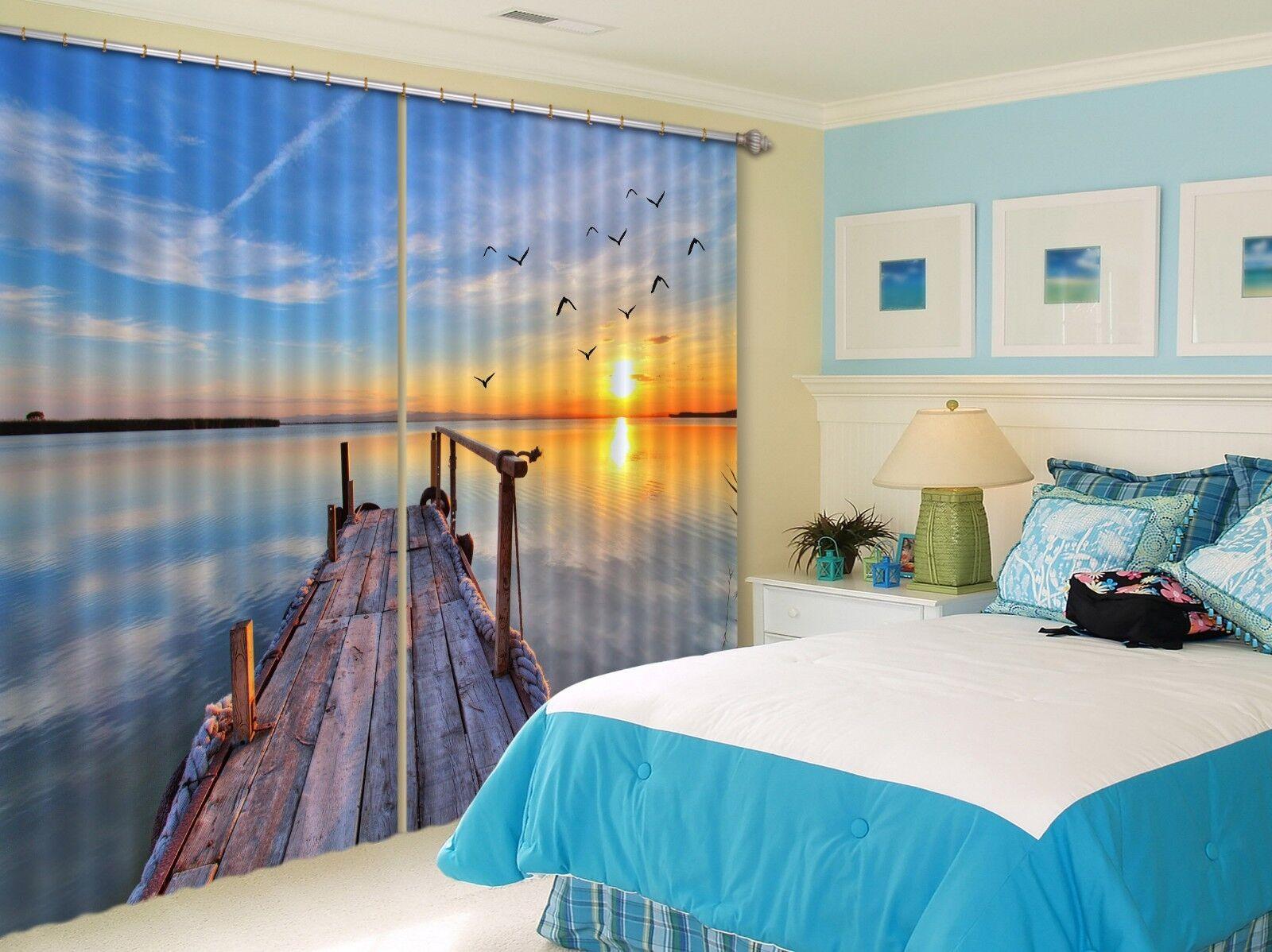 3D Sol aves 36 Cortinas de impresión de cortina de foto Blockout Tela Cortinas Ventana au
